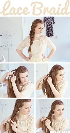 くるくる三つ編みヘアスタイル