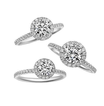 Round Micropavé Diamond Engagement Ring(ラウンド・マイクロパヴェ・リング)