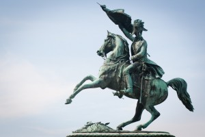 Statue of the Archduke Charles at Heldenplatz, Vienna, Austria
