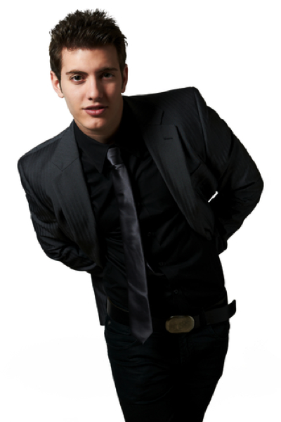 (2)カラースーツ. 男性は黒・