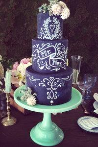 黒板ケーキ