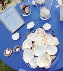 貝殻の結婚証明書