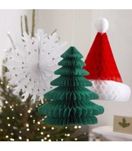 decoracion-navidena-nido-de-abeja