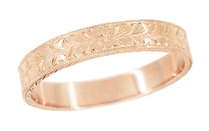 mens-antique-art-deco-engraved-wheat-wedding-ring-14-karat-rose--pink--gold-mr858rnd