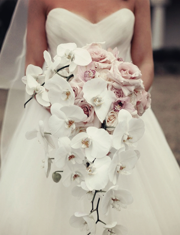 Cascading-style-Orchid-Wedding-Bouquet