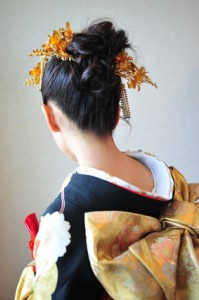 Japanese bride on wedding day