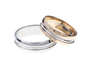White gold Engagement Rings White Background