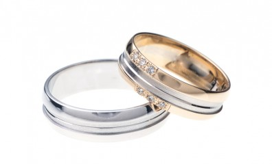 White gold Engagement Rings White Background