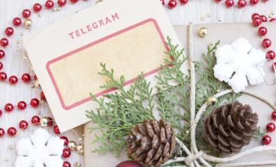Christmas present and the vintage telegram