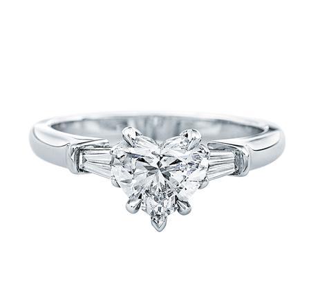 Classic Winston™, Heart-Shaped Diamond Engagement Ring (ハートシェイプ・クラシック・リング)