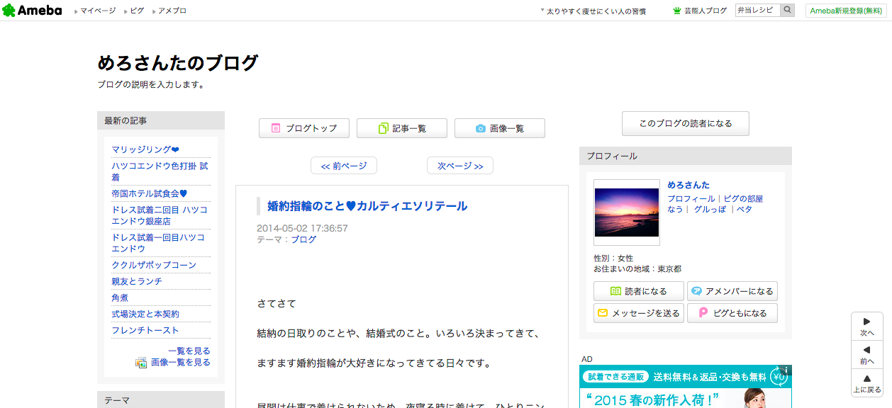 めろさんたのブログ