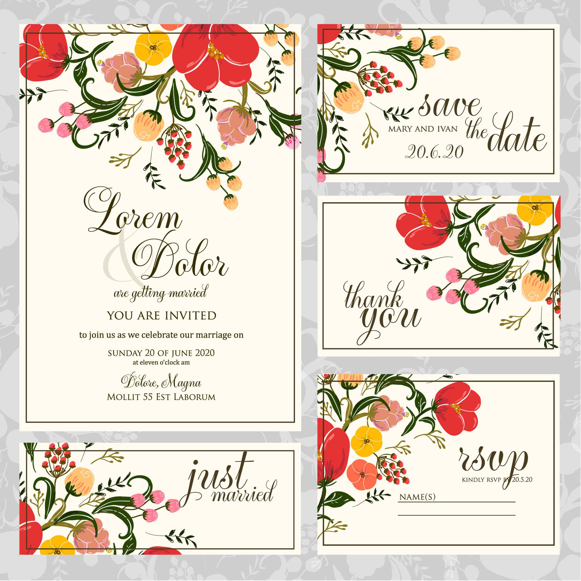 結婚式の招待状を準備する