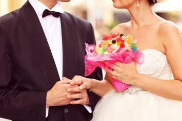 結婚式 キャンディブーケ