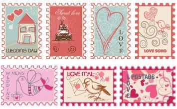 結婚式 招待状 切手