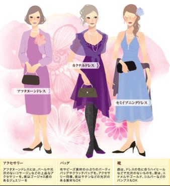 冒頭でもご紹介しましたが、カクテルドレスというと、一般的には、カクテルパーティ(カクテルと軽食が振舞われる立食形式のパーティ)で着るセミフォーマルなドレスの