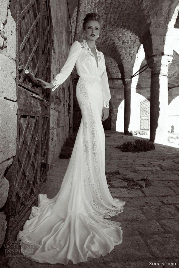 ウェディングドレス ウェディングドレス レトロ : Long Sleeve Wedding Dresses