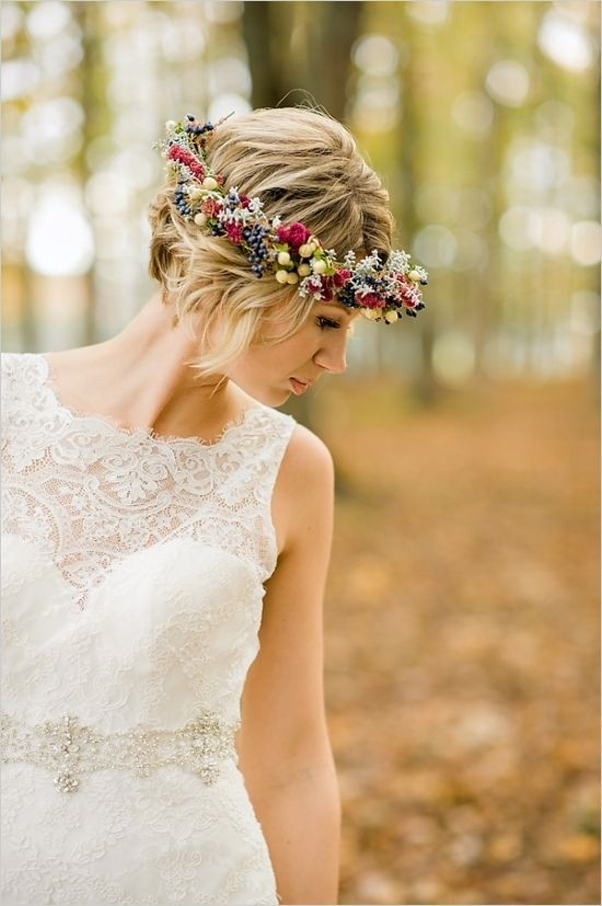 Updo-Hairstyles-with-Floral-Headband-Swanky-Wedding-Updos-for-Short-Hair
