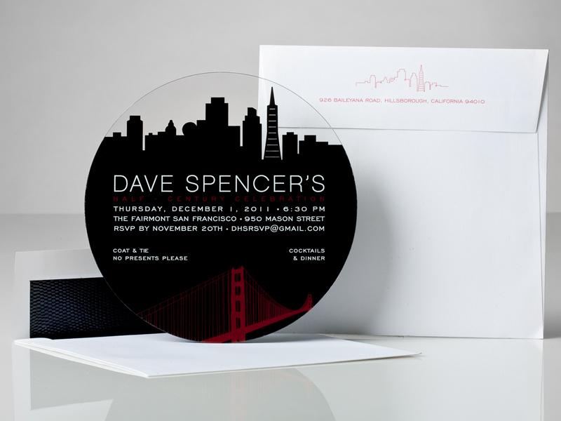 プラスティックに印刷した招待状