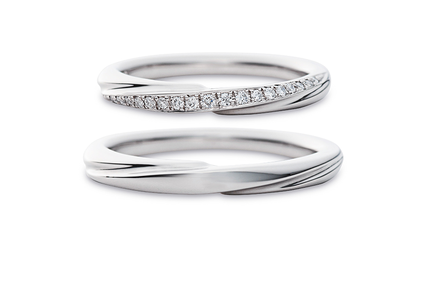 エクセルコダイヤモンドのプラチナ結婚指輪3