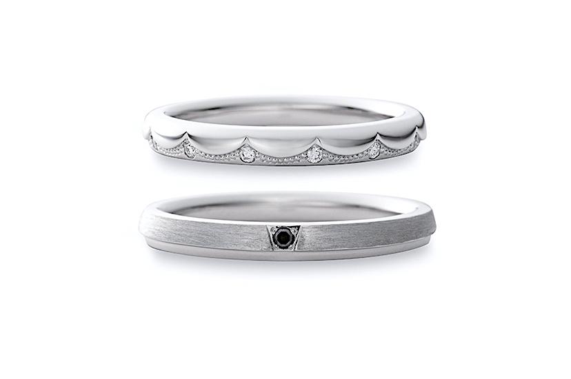 エクセルコダイヤモンドのプラチナ結婚指輪4