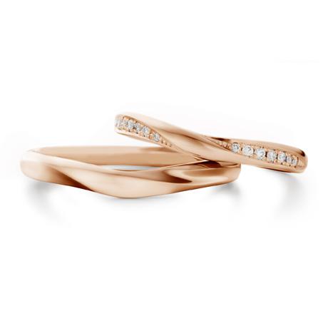 銀座ダイヤモンドシライシのピンクゴールド結婚指輪2