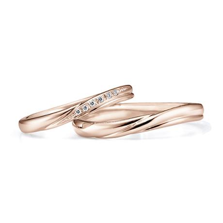 銀座ダイヤモンドシライシのピンクゴールド結婚指輪4