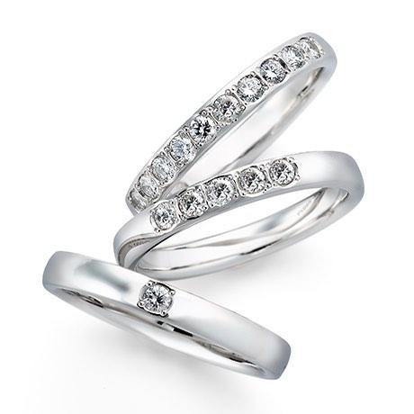 銀座ダイヤモンドシライシのダイヤ入り結婚指輪1