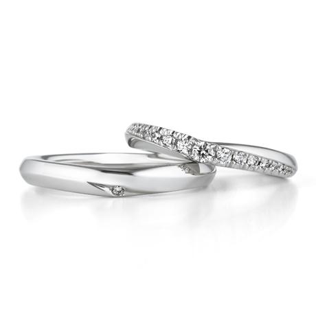 銀座ダイヤモンドシライシのダイヤ入り結婚指輪2