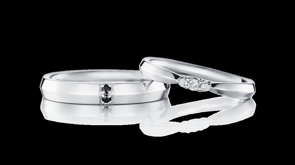 I-PRIMOのダイヤ入り結婚指輪1