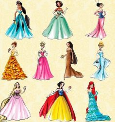 ディズニープリンセスドレス