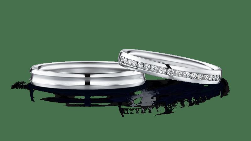 ダイヤ入り結婚指輪 CHARIS