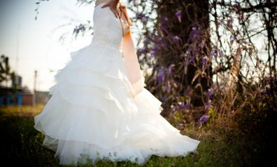 public-domain-images-free-stock-photos-wedding-dress-outdoors-green-grass-wisteria-vines-1000x666