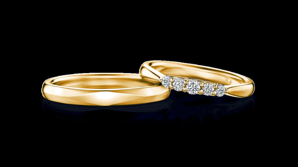 I-PRIMOのイエローゴールド結婚指輪1