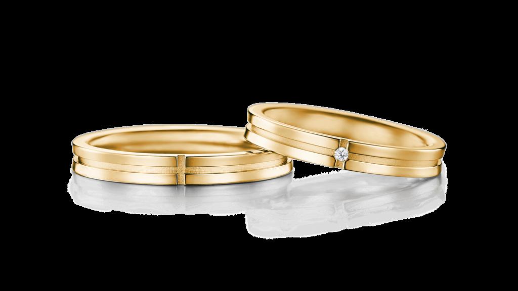 I-PRIMOのイエローゴールド結婚指輪2