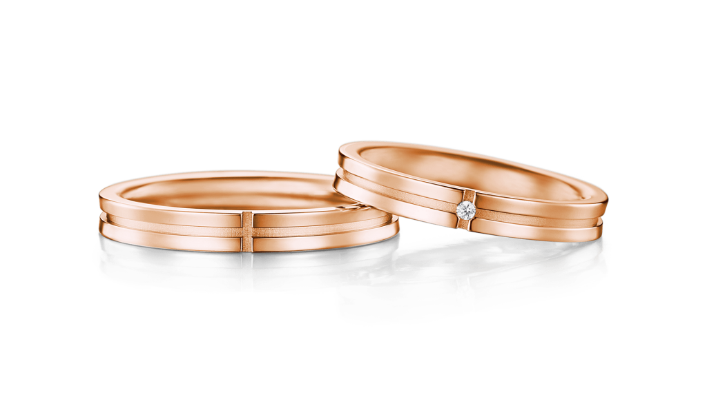 I-PRIMOのピンクゴールド結婚指輪1