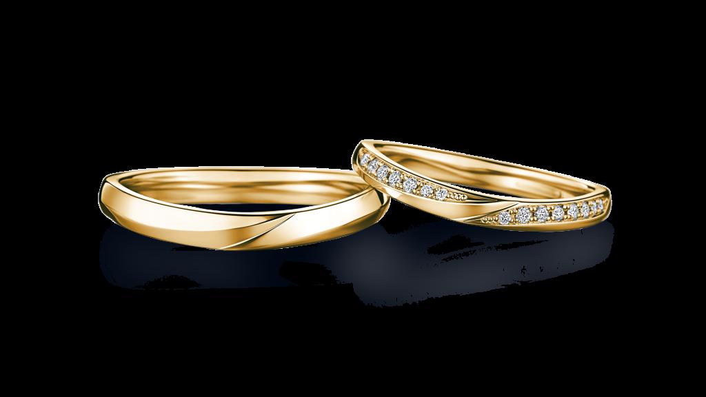 I-PRIMO(アイプリモ)のイエローゴールドの結婚指輪1