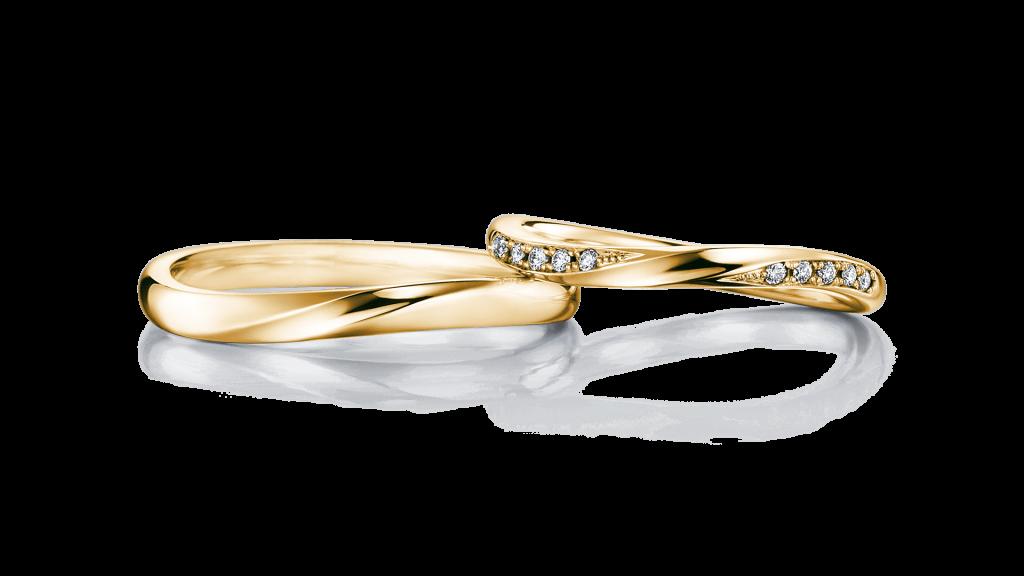 I-PRIMO(アイプリモ)のイエローゴールドの結婚指輪2