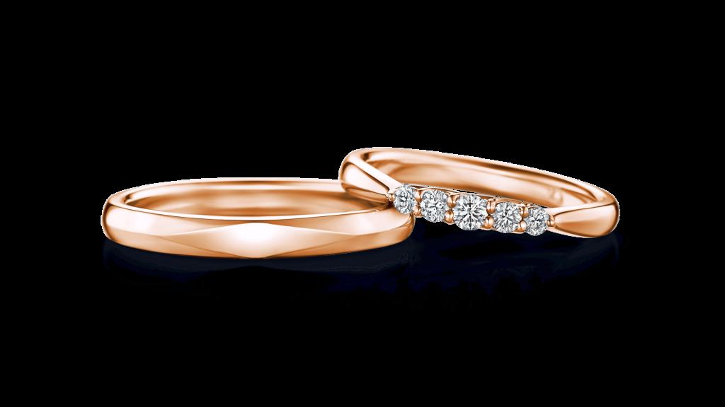 I-PRIMO(アイプリモ)のピンクゴールドの結婚指輪1