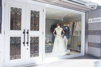 自社アトリエで仕立てたシルエットバランスの美しいオリジナルドレス La Reine