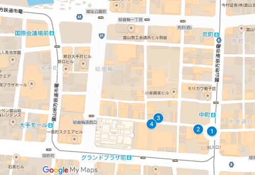 富山ブライダルジュエリーショップmap