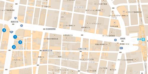 宮崎ブライダルジュエリーショップマップ