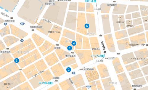 鹿児島ブライダルリングマップ