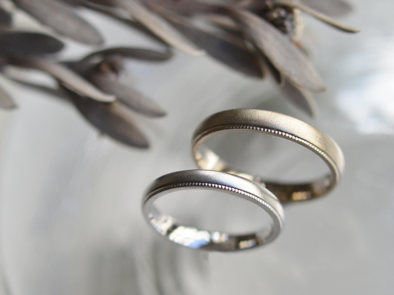 手作りコース 結婚指輪 Pt900 K18ホワイトゴールド