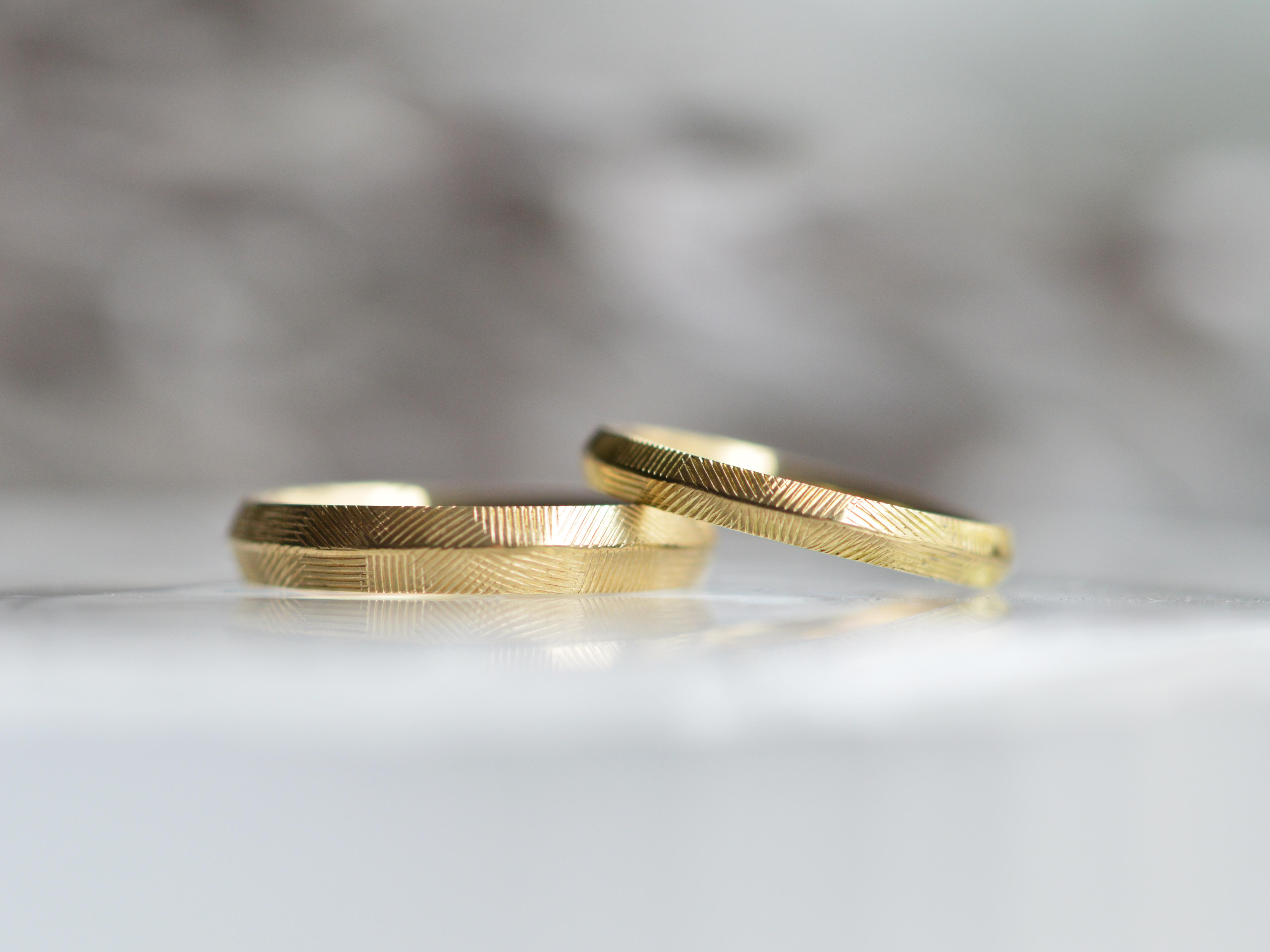 手作りコース 結婚指輪 K18イエローゴールド