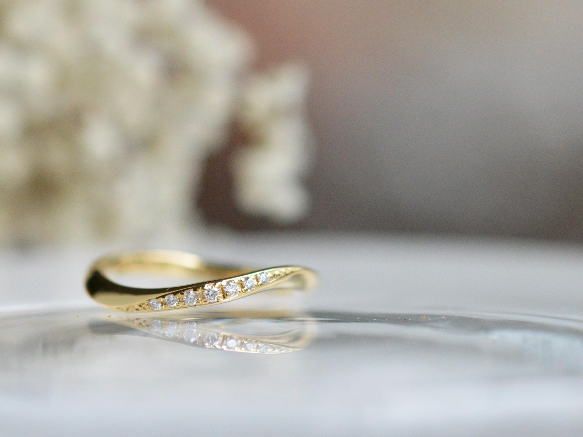 オーダーメイドコース 婚約指輪 K18イエローゴールド ダイヤモンド