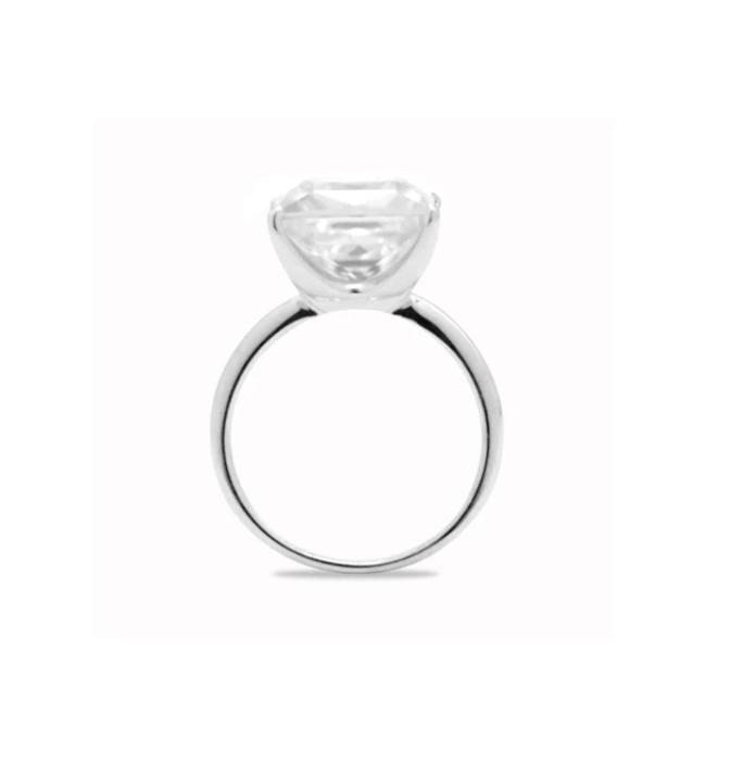 5.3ct Princess Cut Ring